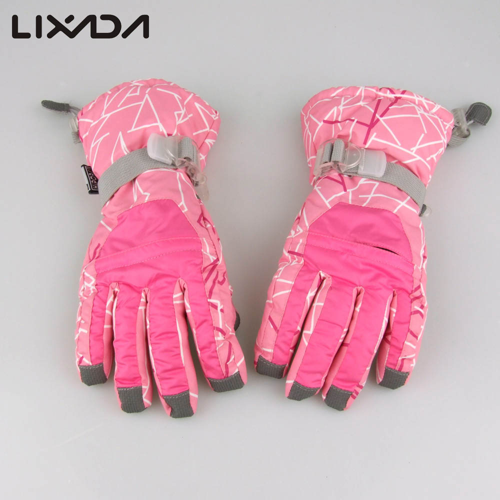 Motorcycle gloves pink - Women Ski Gloves Snowmobile Motorcycle Riding Winter Gloves Windproof Waterproof Unisex Thermal Snow Snowboard Gloves