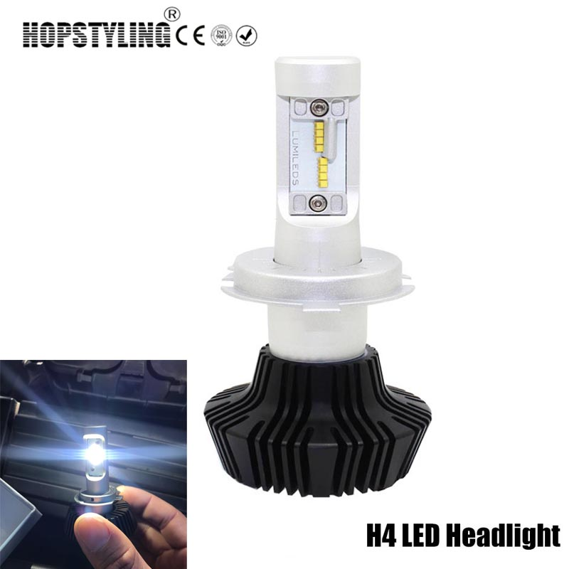 hopstyling 2 stks 80 w g6 h4 h7 luxeon zes led koplamp 6000 k wit auto
