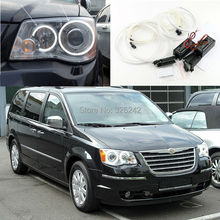 Para Chrysler Voyager Voyager 2008-2014 Excelente CCFL Angel Eyes kit Anillo angel eyes kit de Halo Ultrabright iluminación