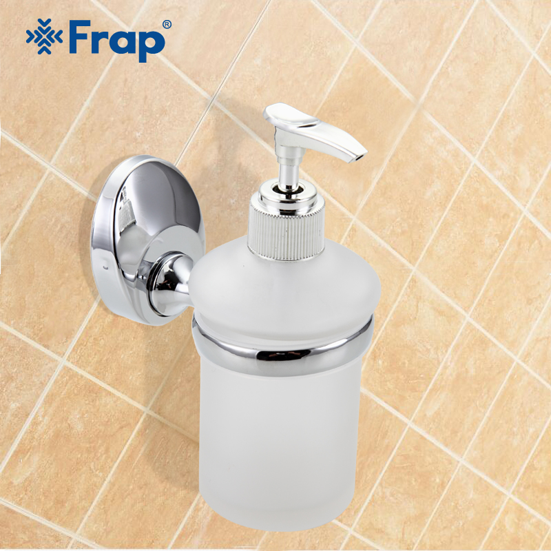 Frap 1pc Wall Mounted Liquid Soap Dispenser With Glass Container/Bottle Bathroom Products Accessories Liquid F1627 250ml alcohol and liquid container bottle