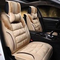 Роскошные чехлы для сидений автомобиля Универсальные зимние чехлы для сидений автомобиля подходят для большинства моделей для Honda crv Toyota
