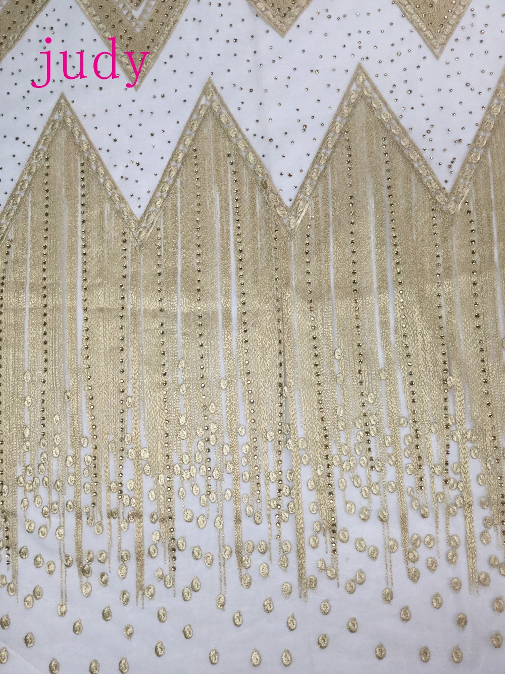 Stock MX52 # tissu en or pâle broderie intensive style égyptien diamant modèles classiques pour robes de mariée livraison gratuite