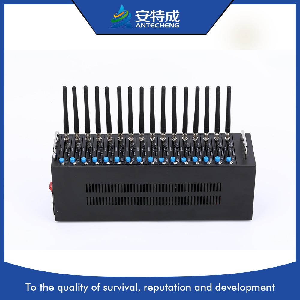 Hot sell antecheng gsm modem 4g modem pool 16 port bulk sms machines online transfer bulk sms software support gsm dongle and 4 8 16 32 64 ports gsm modem pool smsdelivere enterprise edition