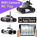 Wi-fi câmera do carro rc 1:10 fpv brinquedos de controle remoto sem fio inteligente robô android mini tanque rc deriva