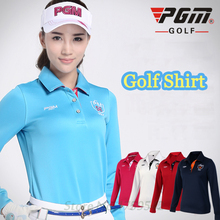 PGM 2015 high quality Golf fit womens golf polo shirts autumn and winter clothing golf tshirt ropa de golf clothing tennis shirt