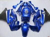Plastic set for HONDA CBR 600 F2 fairing kit 1991 1992 1993 1994 blue white black fairings cbr f2 91 92 93 94 BJ87