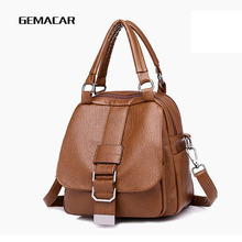 Ladies Small Backpack Pu Leather Casual Best Bag Soft Comfortable Woman Shopping