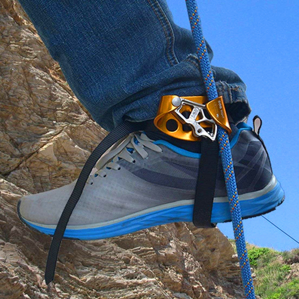 Outdoor Left & Right Foot Ascender Riser Universal Outdoor Rock Climbing Mountaineering Equipment Gear Safe And Reliable