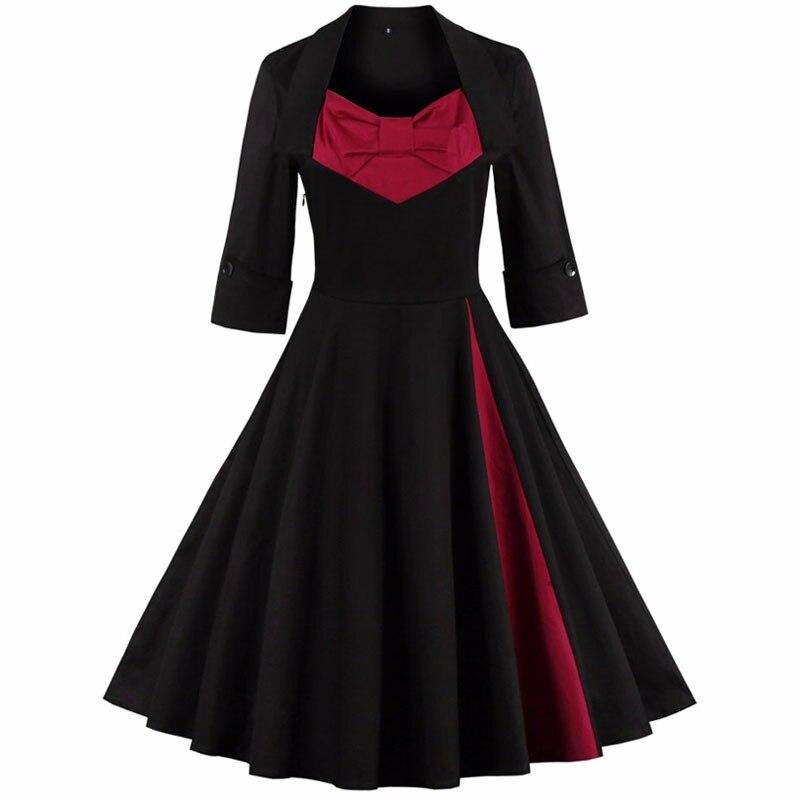 Vintage rockabilly retro casual dress 2