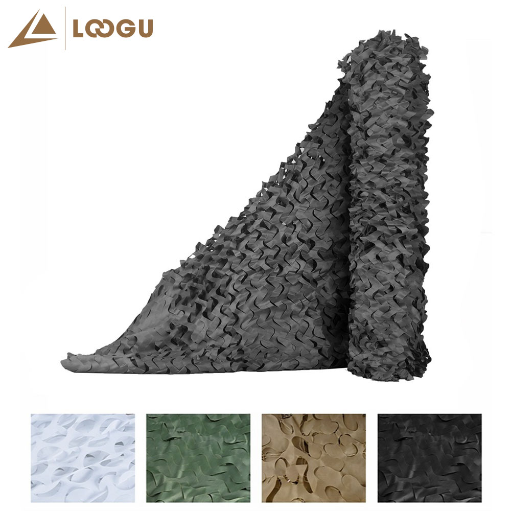 LOOGU E 1.5Μ * 4Μ καμουφλάζ Καθαρή φωτογραφία φόντου Διακόσμηση Κυνηγώντας περσίδες Καμουφλάζ δίχτυ Μαύρο Camo δίχτυ