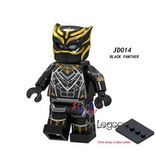 1 Buah Model Blok Bangunan Action Figure Starwars Superhero Panther Hitam Avengers Fantastic Four DIY Mainan untuk Anak-anak Hadiah(China)