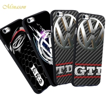Фотография For iPhone 5 S 5S SE 7 Plus 6 6S VW Case  Volkswagen Bus GTI TDI Car Logo Pattern Anti-knock Phone Black Silicone Soft Case