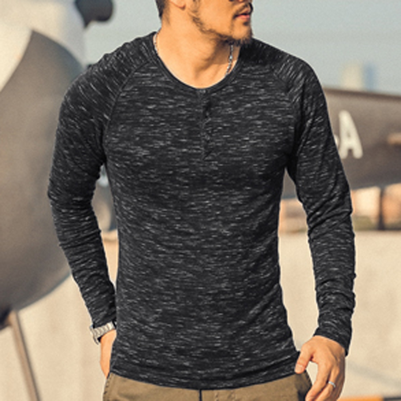 Buy brand t shirt long sleeve men solid for Mens long sleeve t shirts sale