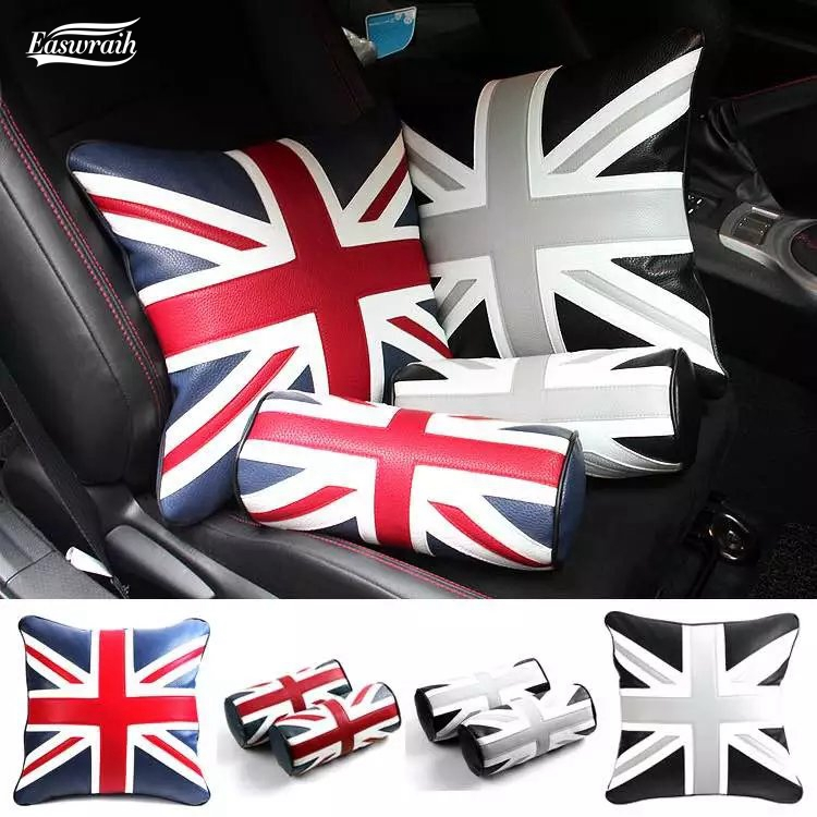 car accessories interior neck pillow covers for Mini Cooper S R50 R52 53 55 R56 57 58 59 60 R61 F56 F55 JCW clubman countryman игрушка motormax gt racing mini cooper s countryman 73773