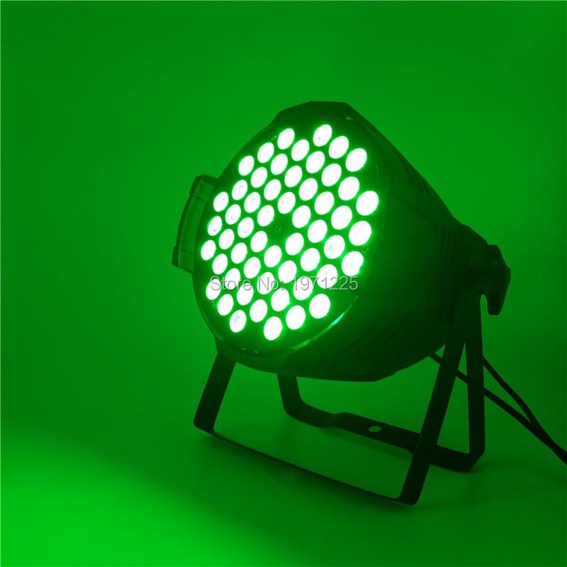 8pcs RGB Stage Par Light DMX Controller Party 54x9W Led Par DMX512 with Adcanced built-in programs 8pcs lot 24x18w led par light rgb par64 dmx par stage lighting