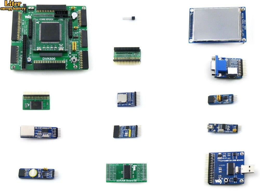 Altera Cycone Board EP2C8Q208C8N ALTERA Cyclone II carte de développement FPGA + 3.2 pouces LCD + 12 Modules = OpenEP2C8-C Package A