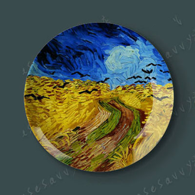 6/8/10/12 Inch Van Gogh Painting Porcelain Decorative Wall Hanging ...