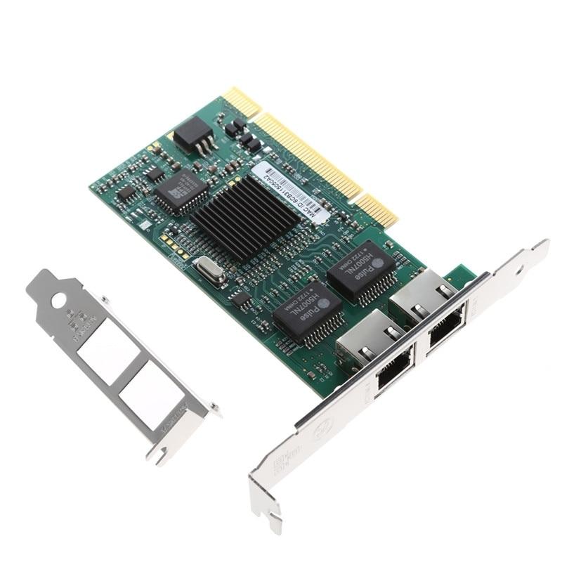 PCI двойной RJ45 Порты и разъёмы Gigabit Ethernet LAN сетевая карта 10/100/1000 Мбит/с для Intel 82546 # h029 #