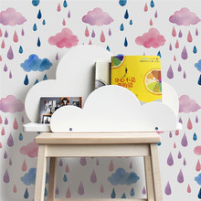 Colored Cloud Wall Stickers Ins Nordic Style Decals Girl Room Adhesive Decor  Living Bedroom Waterproof Murals