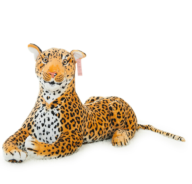 1pc 30cm Simulation Leapord Plush Toy Staffed Soft Money Leopard Plush Pillow Home Decoration Kids Toy
