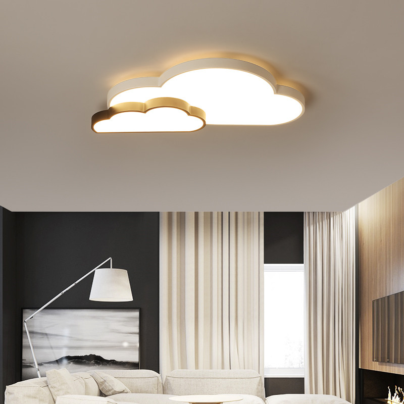 criancas quarto luz moderna nuvem preta lua estrela coracao teto led flush luz para sala de