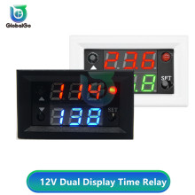 цена на 12V Delay Double Display Digital Time Relay Module Digital Time Delay Relay LED Display Cycle Timer Control Switch Module
