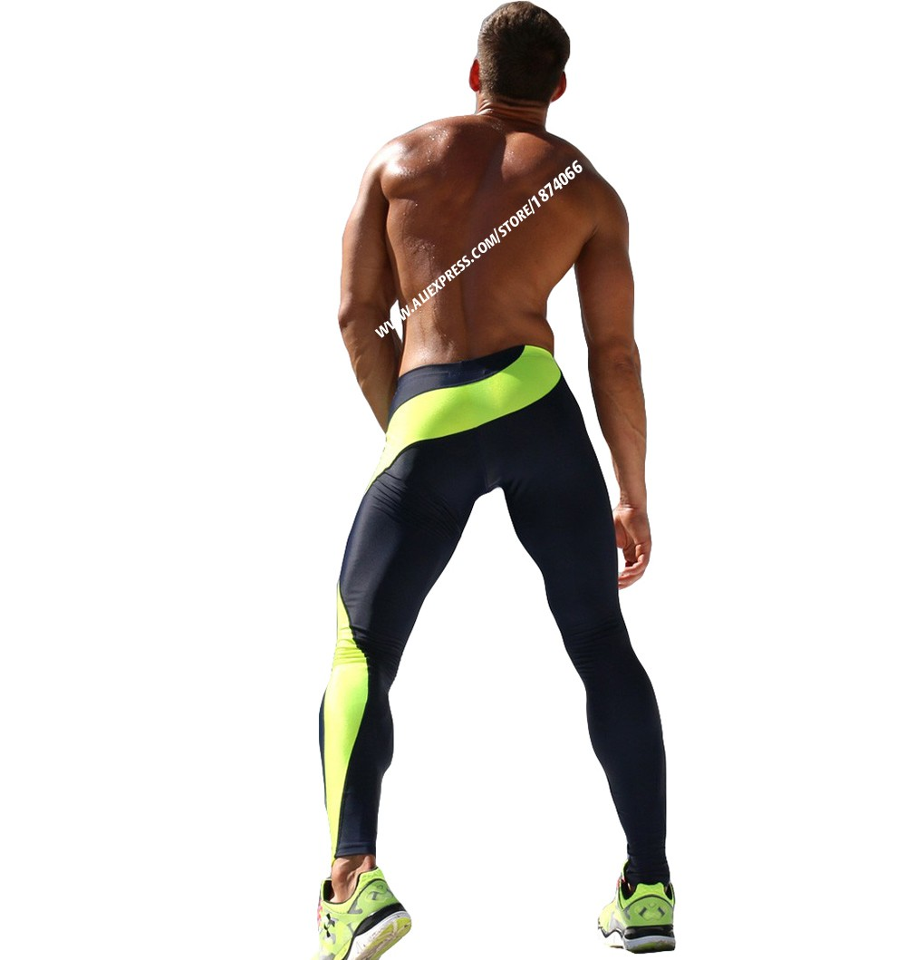Aimpact Sexy Fashion Skinny Men Sport Pants Athletic Slim Fitted Running Men's Pants Gym Strip Sexy Tight Causal Sweatpants AQ17 (6)