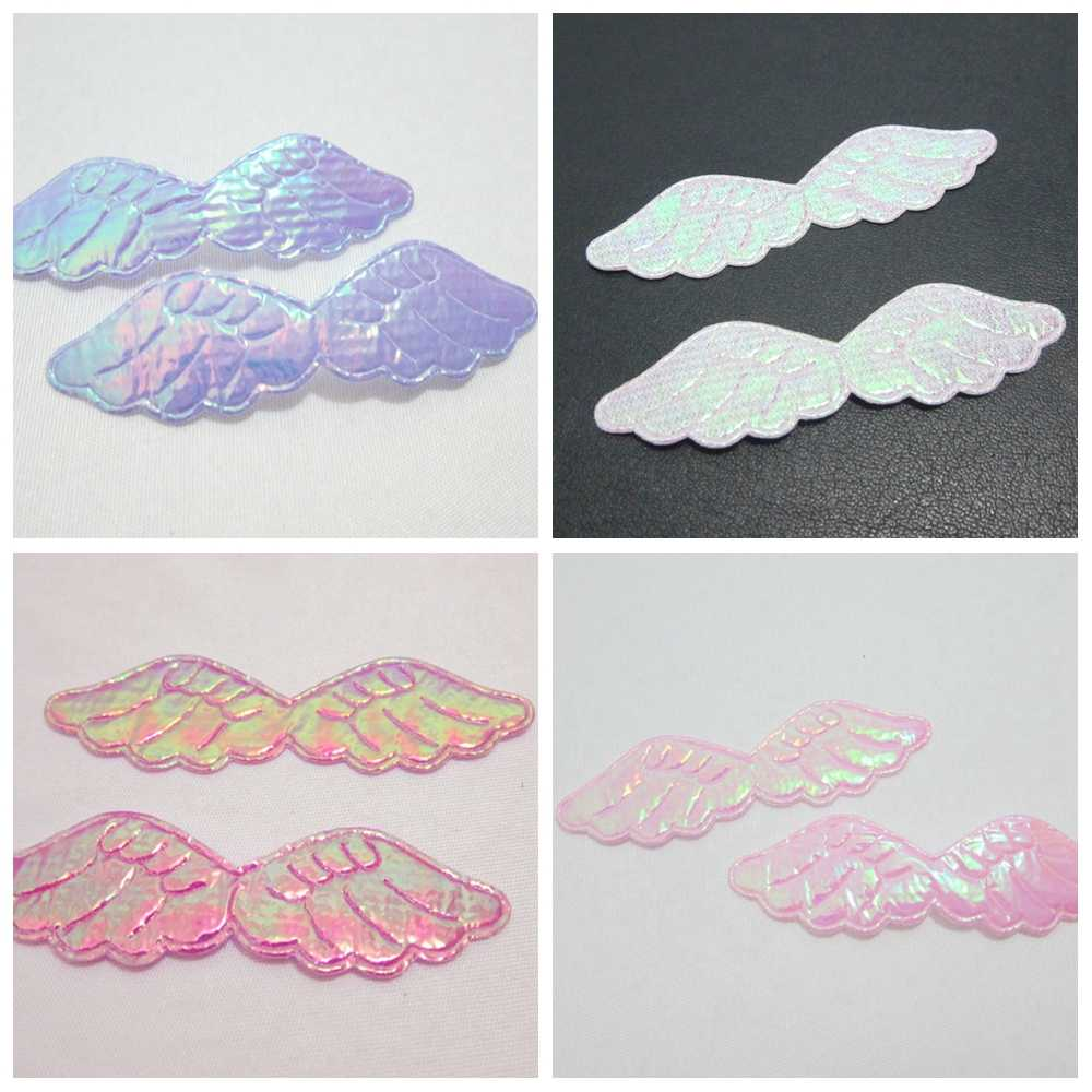 150pcs 16*60mm AB pretty Angel wings Appliques diy decoration craft A12*3