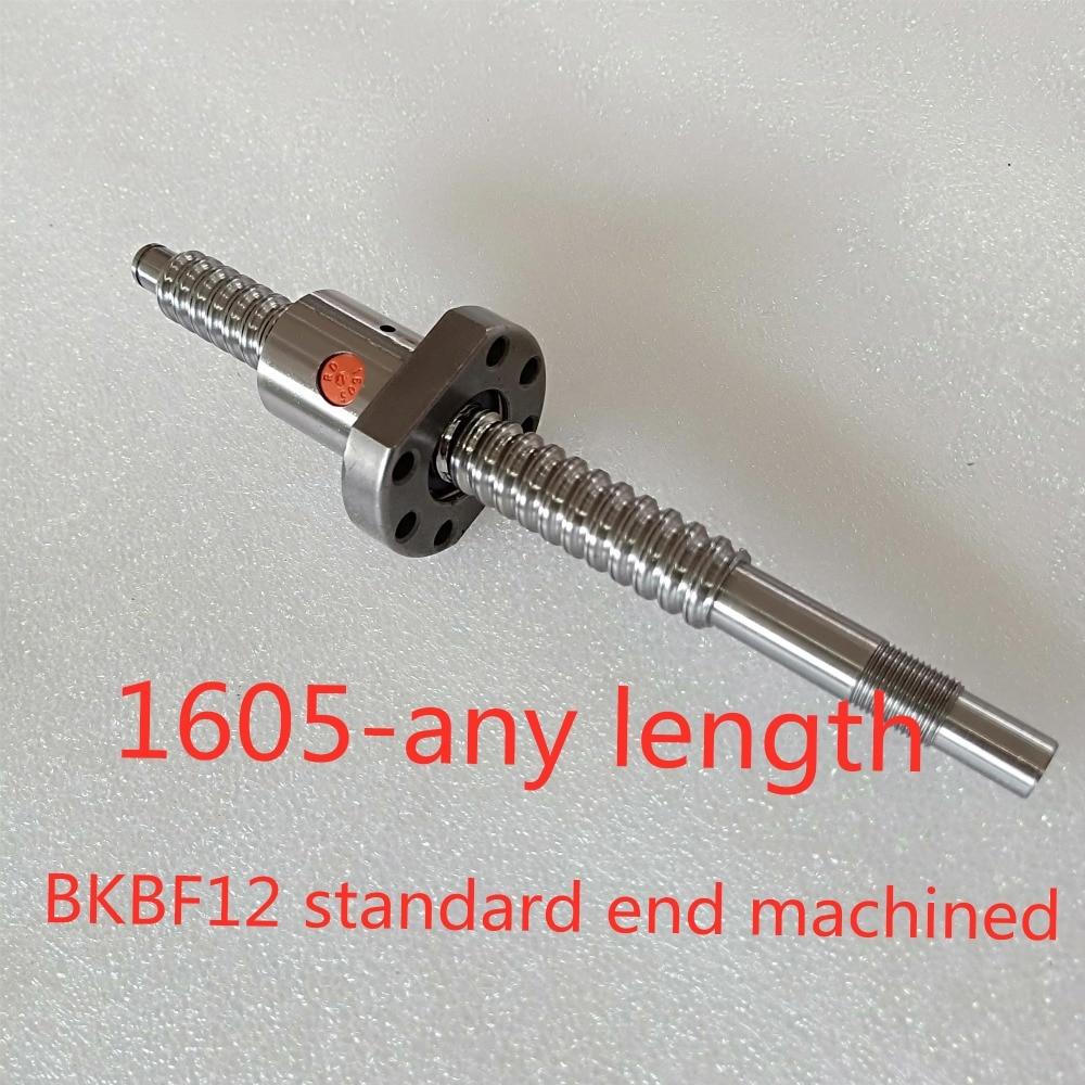 1PC BallScrew SFU1605 any length 1PC RM1605 Ballscrew Ballnut with BKBF12 standard end machined CNC Parts