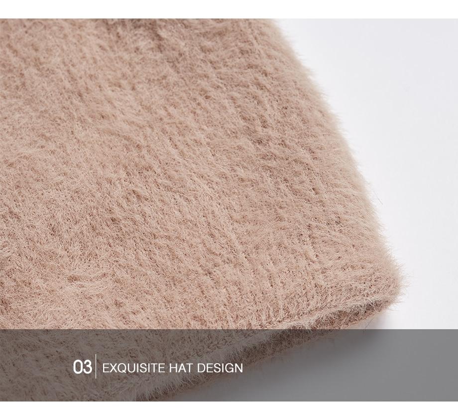 Hat Female Raccoon Hair Ball Beanies Winter Warm Wool Bonnet Pompom Beanies 2018 Fashion Russia Knitted Skullies Cap For Girls (24)