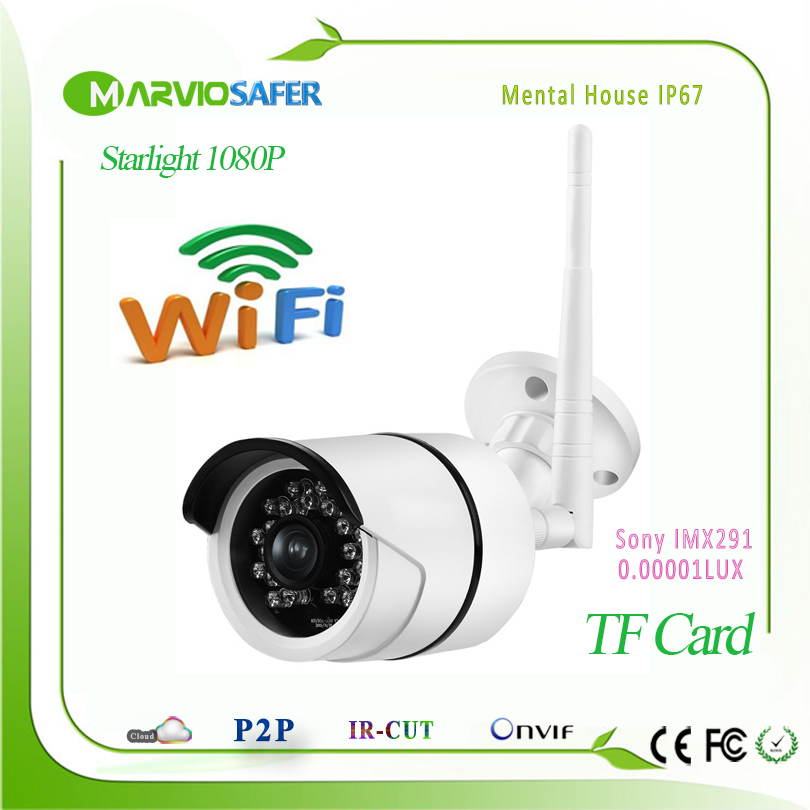 2MP Full HD 1080P Starlight Colorful Night Vision Outdoor Wireless Wifi Bullet Network IP Camera Sony IMX291 Sensor Onvif wistino 1080p 960p wifi bullet ip camera yoosee outdoor street waterproof cctv wireless network surverillance support onvif