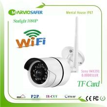 2MP Full HD 1080P Starlight Colorful Night Vision Outdoor Wireless Wifi Bullet Network IP Camera Sony IMX291 Sensor Onvif