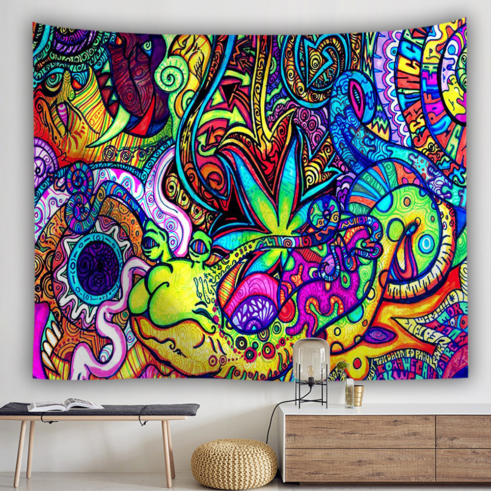Image 5 - bohemian wall tapestry hanging huge mushroom house fairyland psychedelic tapestriws home decor-in Tapestry from Home & Garden