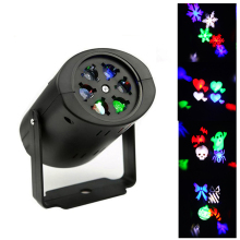 3W 4 Patterns Christmas Laser Projector Snowflake/Heart RGB LED Stage Light for Holiday Xmas Party Halloween Decoration Lights недорого