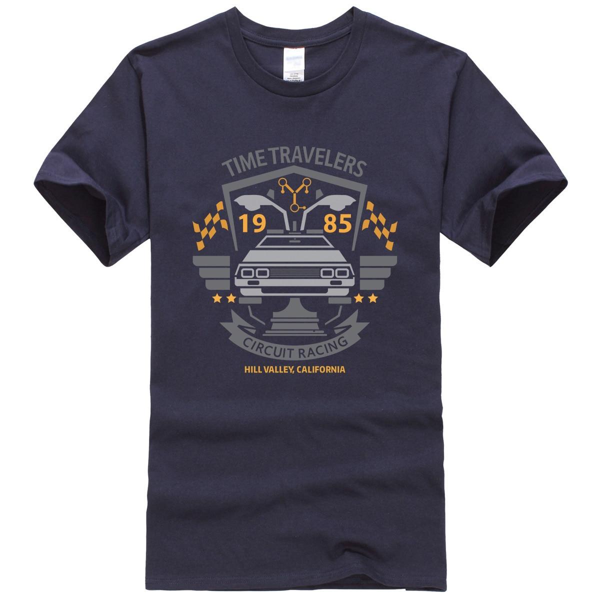 Zurück In Die Zukunft Mode T-shirt Männer 2018 Sommer Kurze Marke Männer T-shirts ZEIT REISENDE Hip Hop T-shirt Harajuku Tops