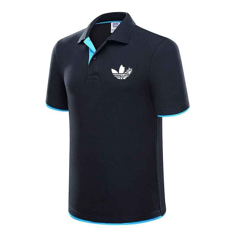 Summer new men's   Polo   shirt men's designer   Polos   men's cotton short-sleeved shirt men's jersey brand golf tennis short-sleeved