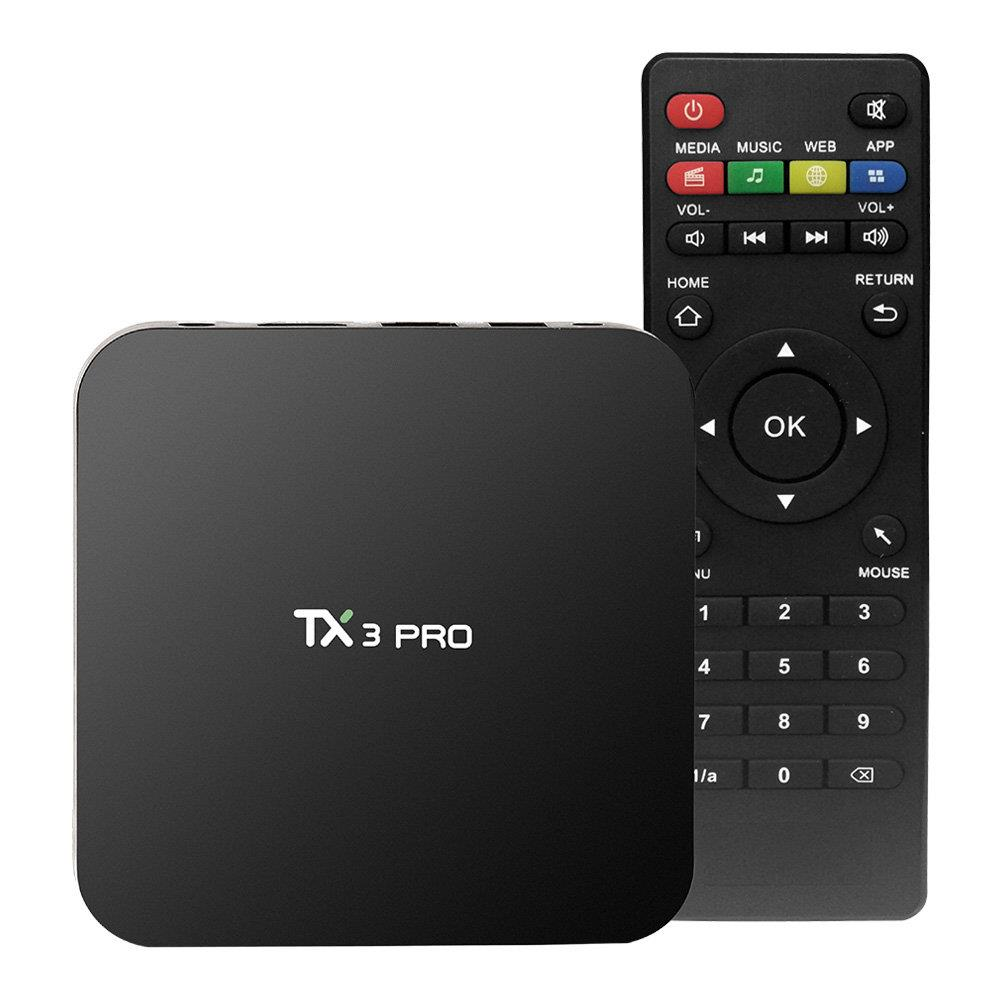 TANIX TX3 PRO smart tv box Android 7.1 Mini PC computer Amlogic S905W 1GB/8GB 4K WIFI 802.11 b/g/n LAN HDMI TV BOX