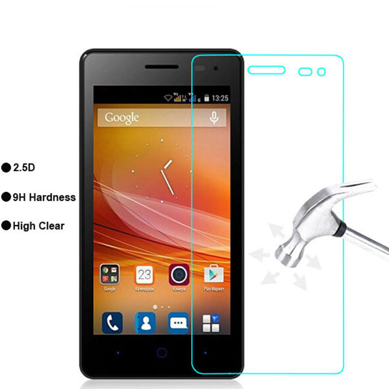 For ZTE T320 / T 320 Tempered Glass 9H 2.5D 0.3mm Premium Screen Protector Film For ZTE Blade GF3 GF 3 / Q Pro Qpro 4.5 Inch ><