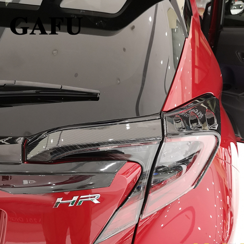For Toyota C-HR CHR C HR 2017 2018 ABS Rear Light Lamp Cover Trim Tail Light Cover Frame Protector Sticker Car Styling Accessory rear spoiler rear trunk wing cover trim for toyota c hr chr 2017 2018 abs chrome carbon fibre stickers car styling accessories