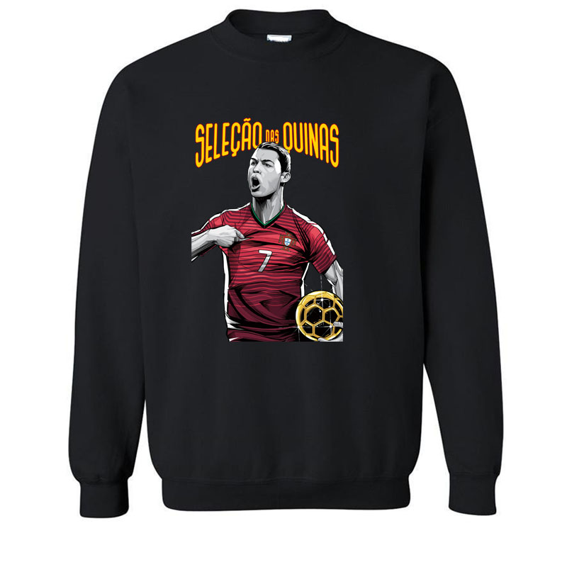 Cristiano Ronaldo Summer DARE TO ZLATAN Ibrahimovic Hoodies, Sweatshirts Men Swedish footballer Paris long Sleeve Cotton Mens