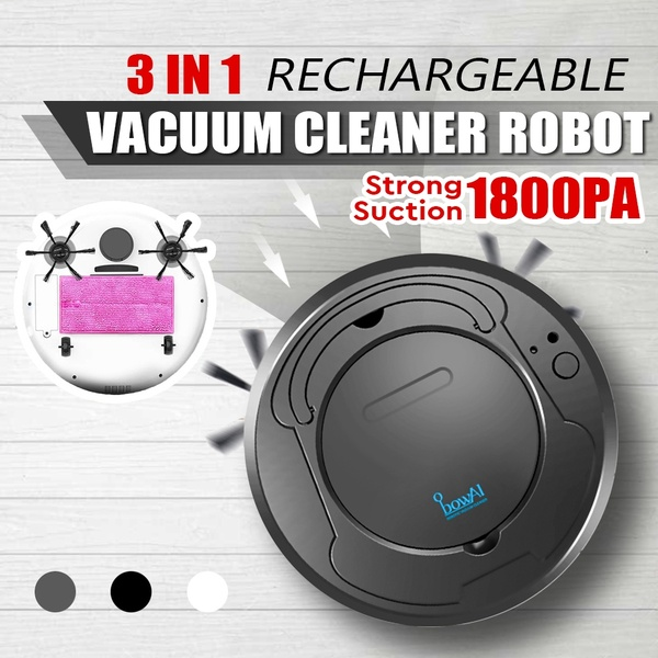 3 in 1 Automatic Sweeping Robot Strong Suction Smart Floor Cleaner Rechargeable Dust Collector Robot Wet