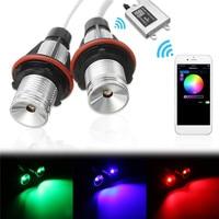 2Pcs 10W Canbus Error Car Auto RGB LED Angel Eyes Halo Ring Light Bulb With WIFI