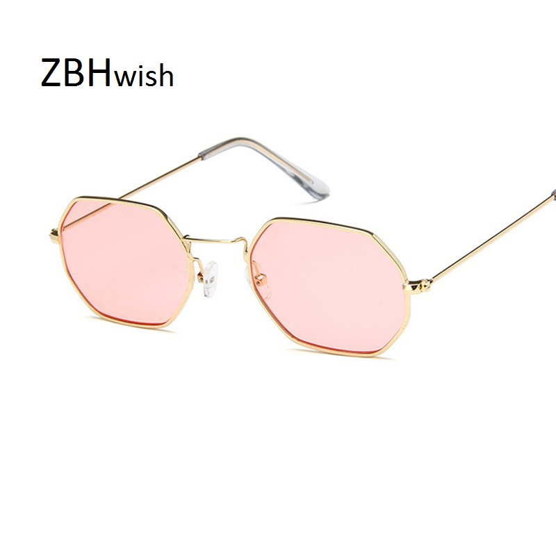 ZBHwish 2019 Square Sunglasses Women Retro Fashion Rose Gold Sun Glasses Female Brand Transparent Glasses Ladies