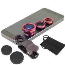 EDAL Universal 3 in1 Clip Fish Eye Lens Wide Angle Macro Mobile Phone Lens For iPhone 5 6 6 Plus
