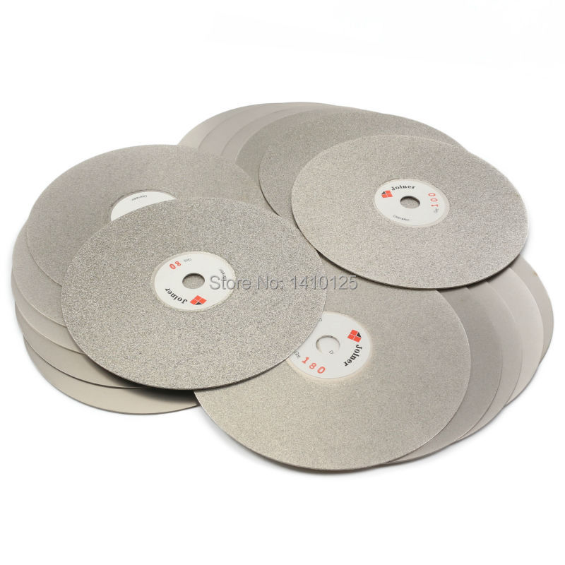 10PCS 6 inch Grit 80 3000 Coarse To Fine Diamond Grinding Disc Coated Flat Lap Disk