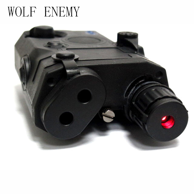 New AN/PEQ 15 Style Battery Case Box with Red Laser Tactical PEQ-15 Case Box New Version