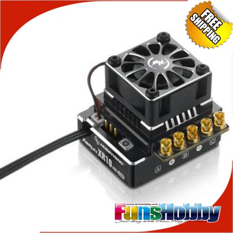 Hobbywing XERUN XR10 PRO Sensored Brushless ESC Nero/Arancione/Rosso Regolatore di Velocità COD.30112600