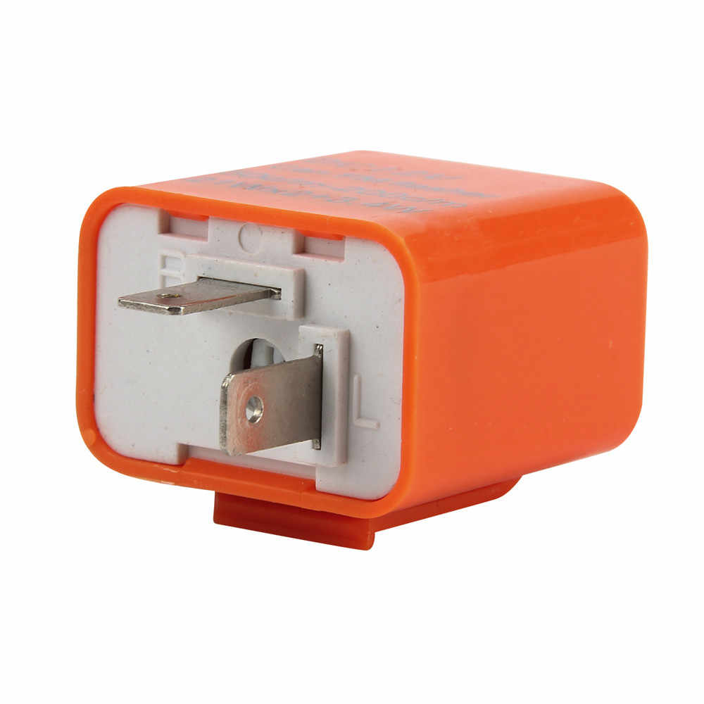 12V 2 Pin Frekuensi Disesuaikan LED Flasher Relay Sinyal Belok Sepeda Motor #7