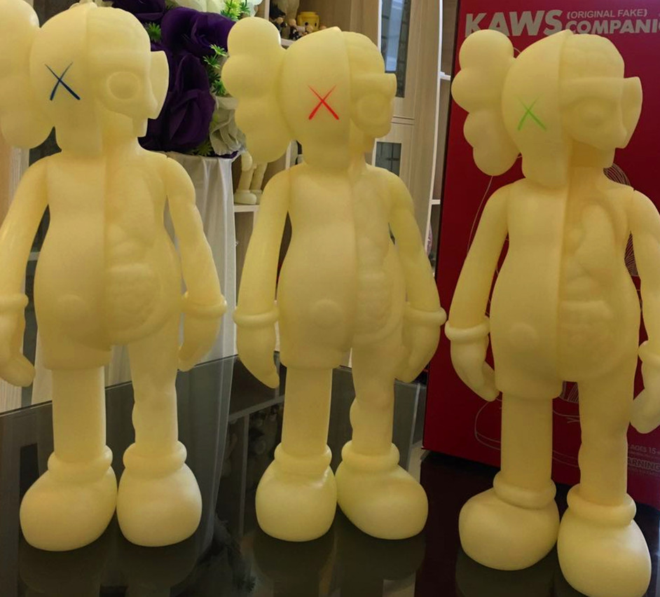 16 Inch Originalfake KAWS Dissected Companion Open Edition Art Fashion Toy Original Fake With Red Retail Box Decoration originalfake kaws 4ft kaws dissected 1 1 kaws toys for home decoration factory sample