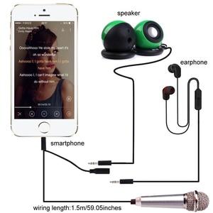 Image 3 - Micrófono Mini PARA karaoke, micrófono portátil con conector Jack de 3,5mm, micrófono para hablar, sonido de música y grabación
